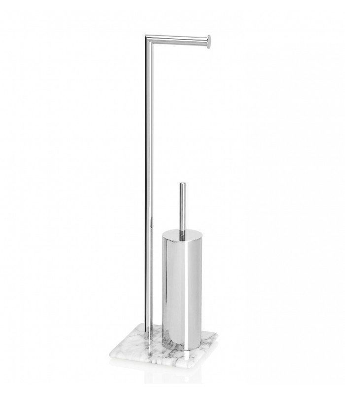 Holder Toilet Brush Inox And Marble Dérouleur