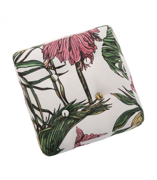 Pouf Square Tropical Fabric