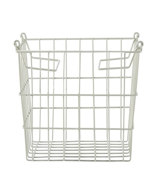 Dust Green Wire Metal Square Storage Basket