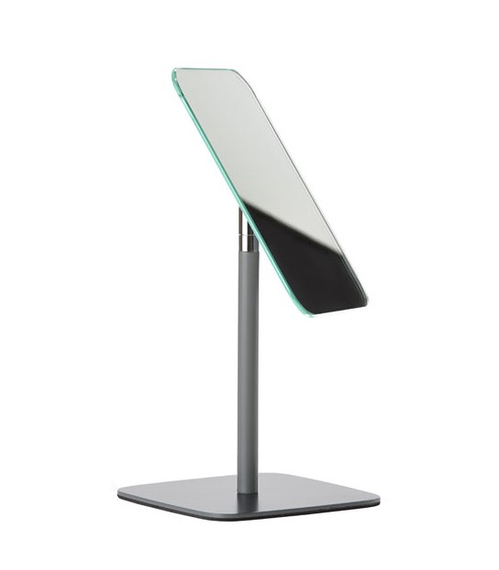 Design Table Mirror Grey Metal
