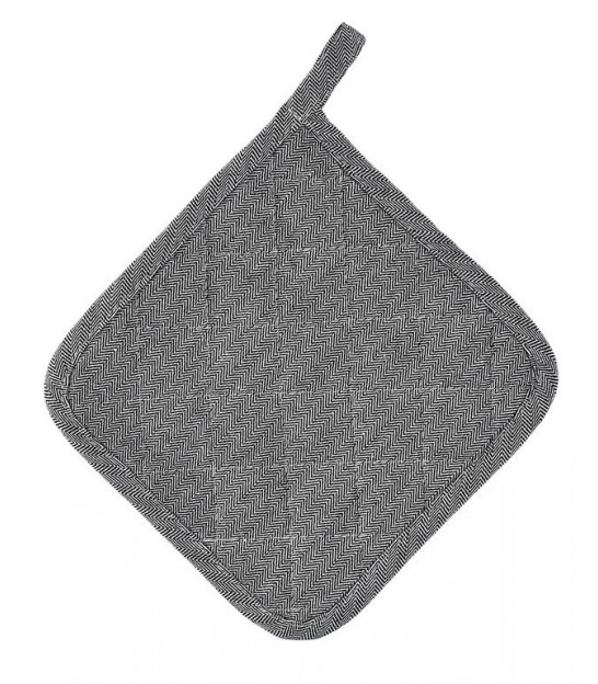 Pot Holder Grey and White