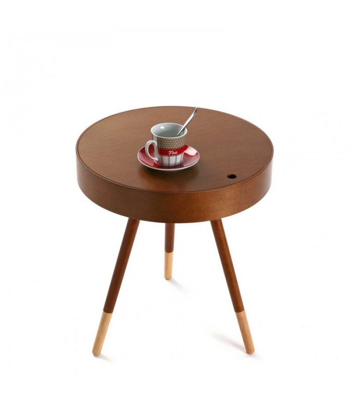 Table basse design ronde d 39 appoint en bois d 39 h v a - Table ronde d appoint ...