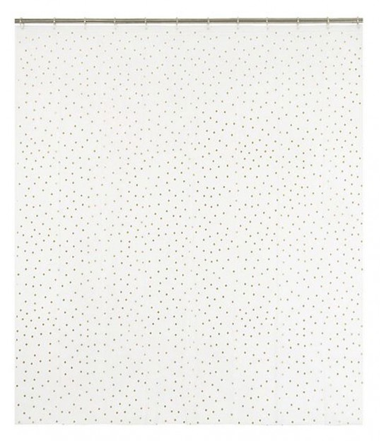 Dotted Shower Curtain Gold - 180*200cm