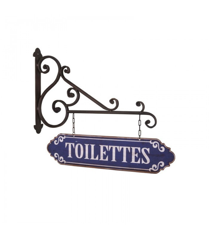 Plaque d corative murale signalisation toilettes for Plaque murale decorative metal
