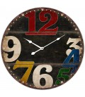 Round Multicolor Wall Clock