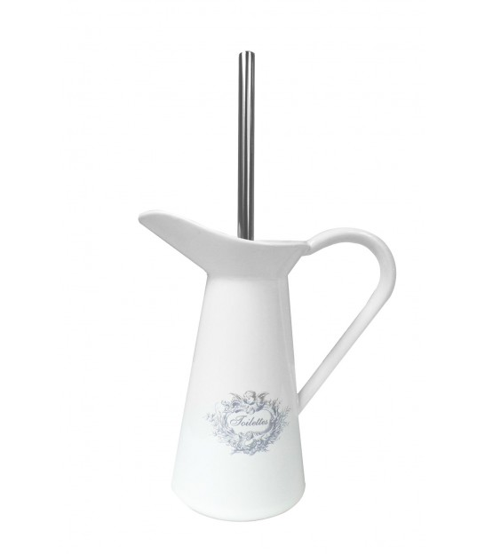 Toilet Brush White Ceramic