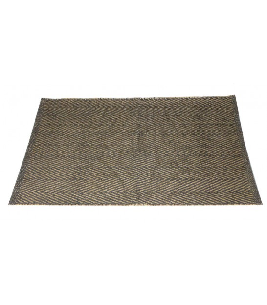 Jute and Cotton Bath Mat