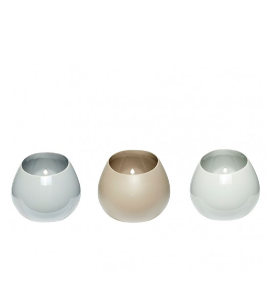 Set of 3 Pots for Wall-Hanging Porcelaine