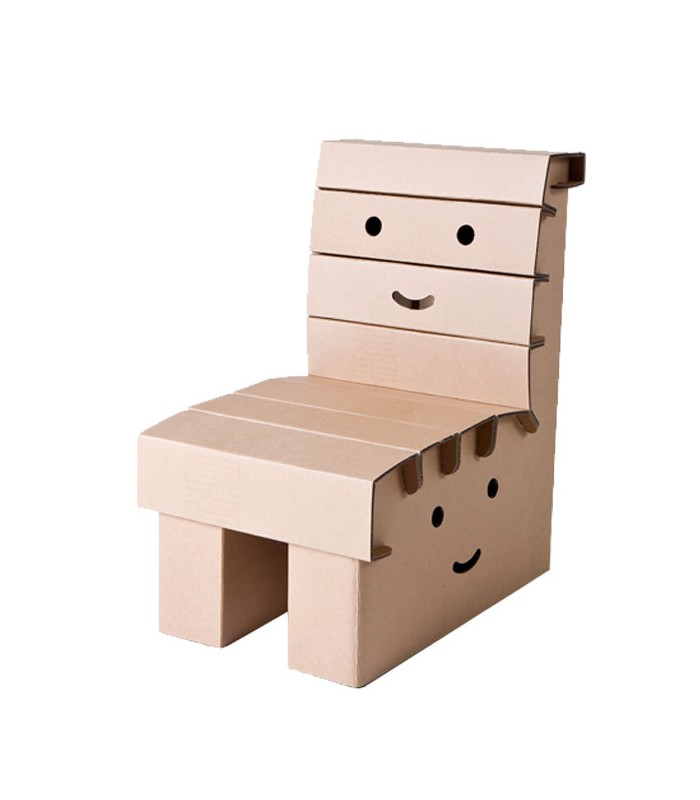 chaise de bureau enfant en carton. Black Bedroom Furniture Sets. Home Design Ideas