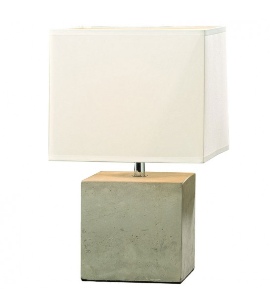 Square Concrete Lamp with White ShadeLamp