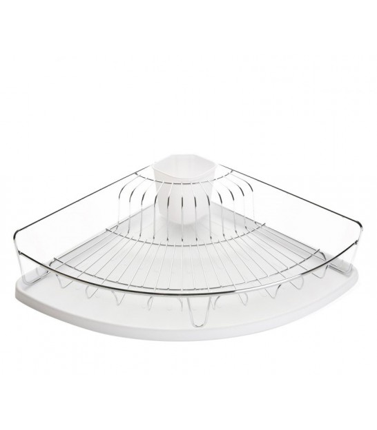 White and Chrome Dish Rack
