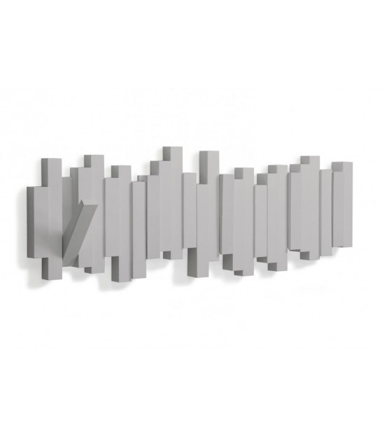 "Porte Manteaux Mural Design Gris ""Sticks Multi Hook Grey"" - Umbra"