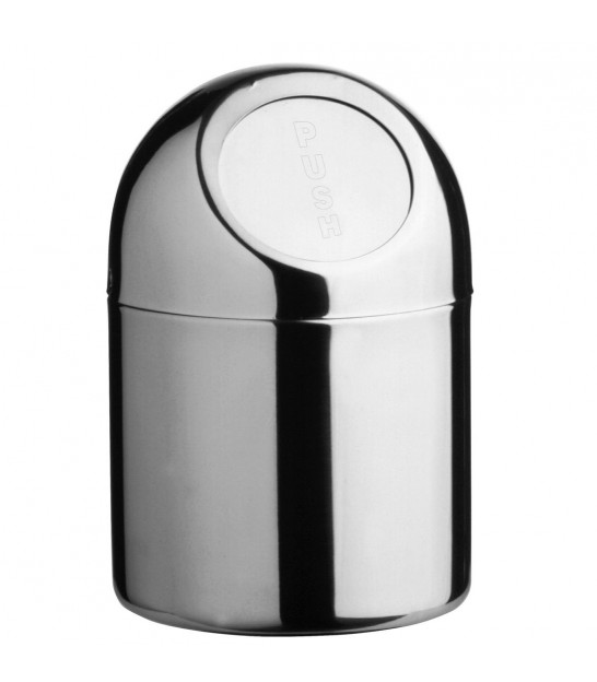 Stainless Steel Mini Push Top Bin