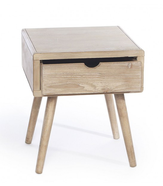 Table de chevet en bois 1 tiroir - Tabouret table de chevet ...