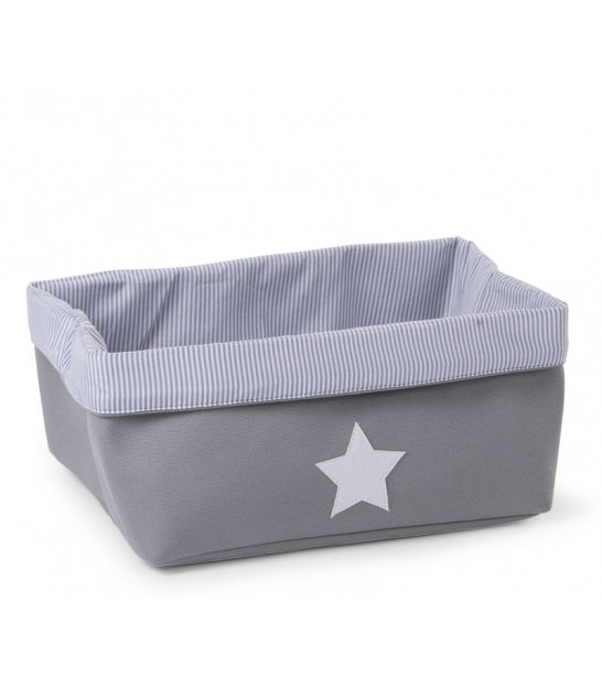 Foldable Box for Kid Grey Stripes