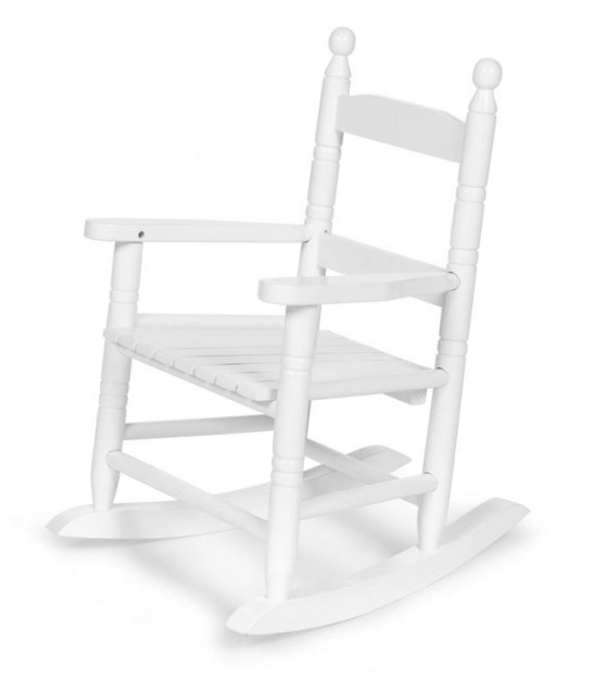 Rocking Chair Enfant en Bois Blanc