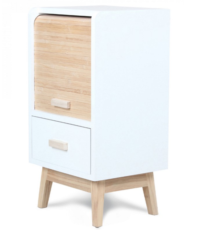 Design White Wooden Bedside Table