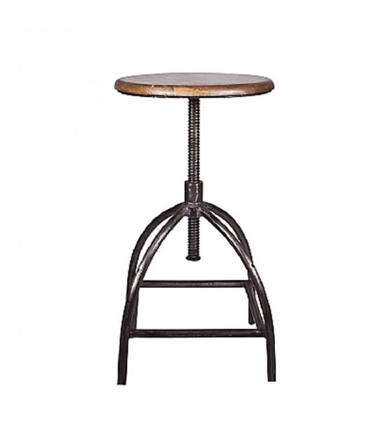 Stool Mango Wood and Iron