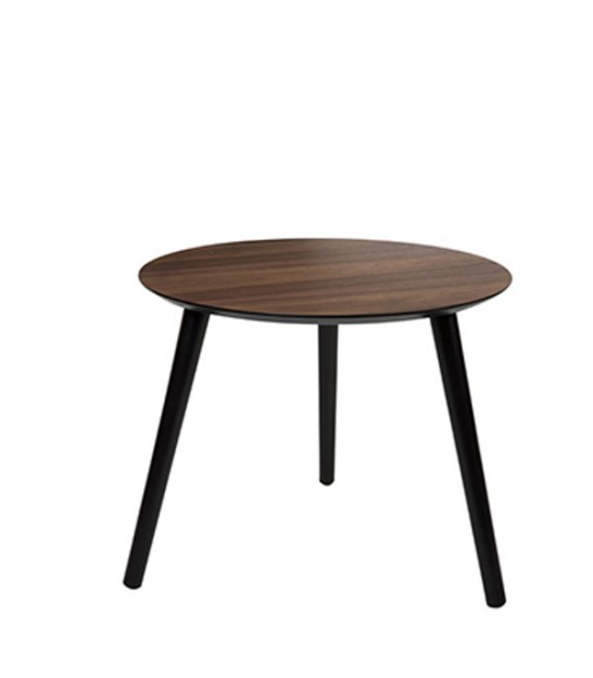 table basse ronde style industriel en bois et m tal flexo. Black Bedroom Furniture Sets. Home Design Ideas