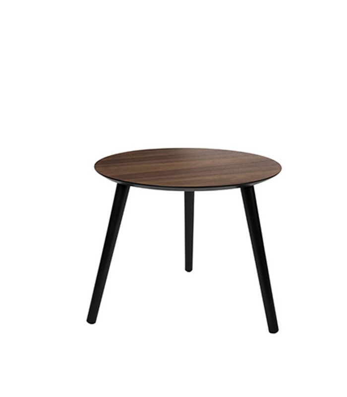 table d 39 appoint tr pied en bois marron fonc. Black Bedroom Furniture Sets. Home Design Ideas