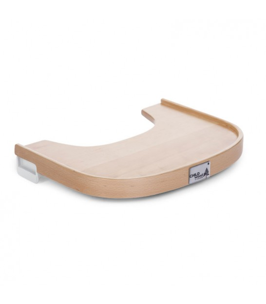 Tablette de Chaise Haute en Bois Naturel