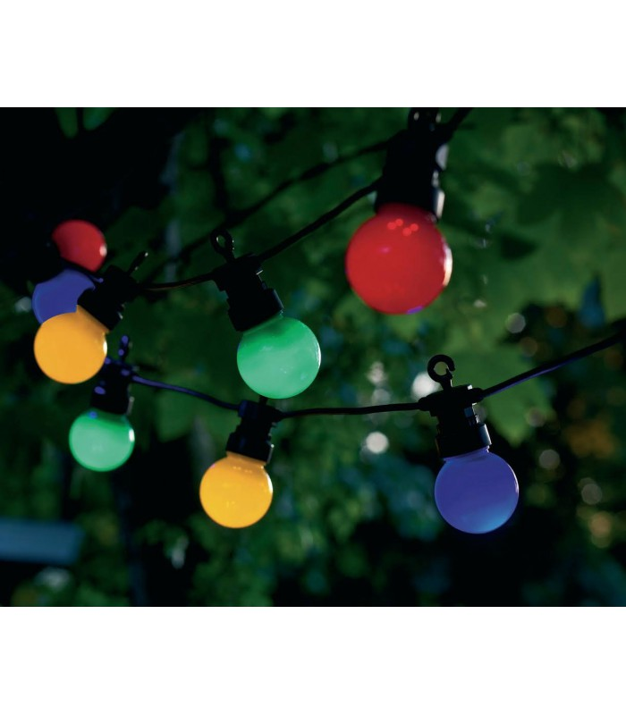 Guirlande lumineuse ext rieure leds multicolore guinguette for Guirlande lumineuse exterieur