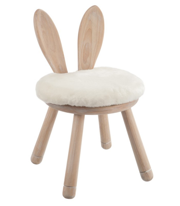 chaise enfant en bois oreilles de lapin. Black Bedroom Furniture Sets. Home Design Ideas