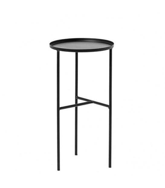 Table d'Appoint en Métal Noir Design