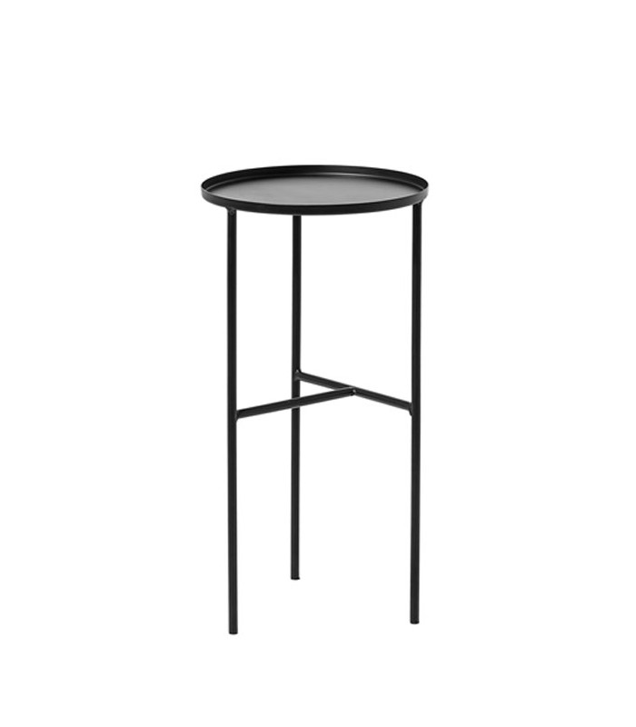 Table d 39 appoint en m tal noir design - Table d appoint design ...