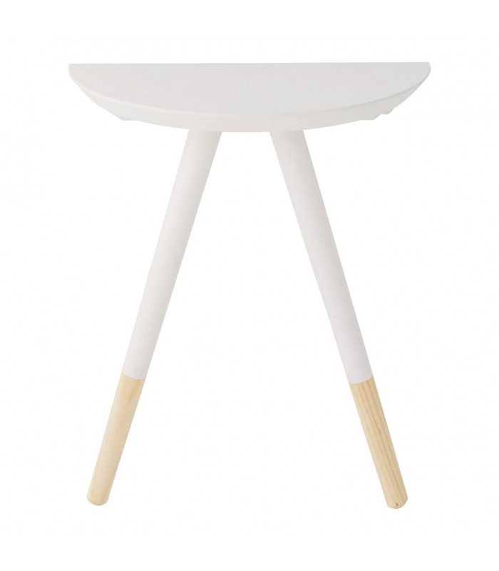 Table de chevet en bois bicolore blanc - Table de chevet bois blanc ...