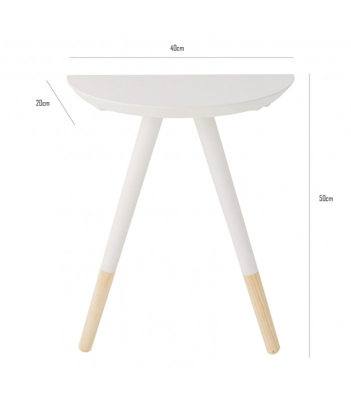 Table de chevet en bois bicolore blanc for Table de chevet bois blanc