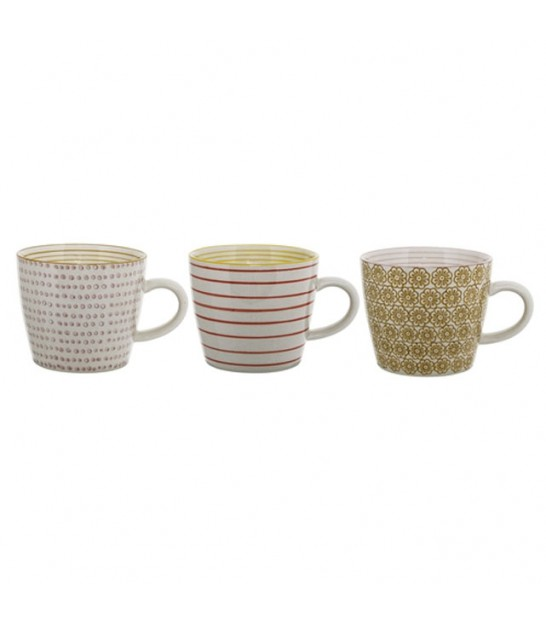 Set de 3 Mugs Multicolores