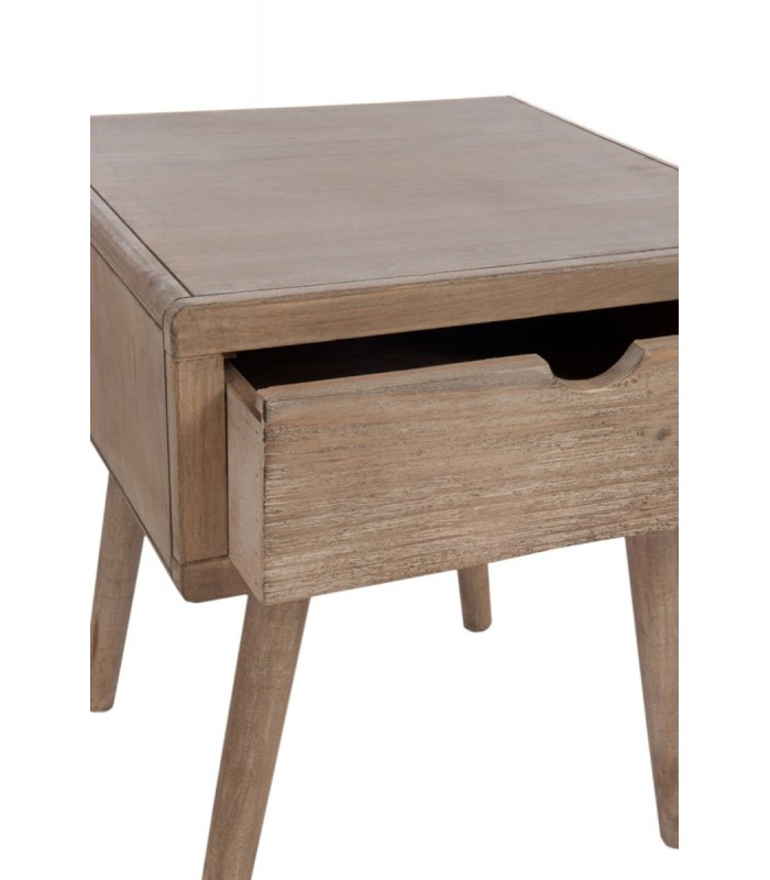 Table de chevet en bois 1 tiroir for Table de chevet foir fouille