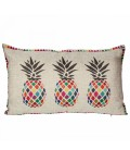 Cushion Multicolored Pineapple Linen Appearance