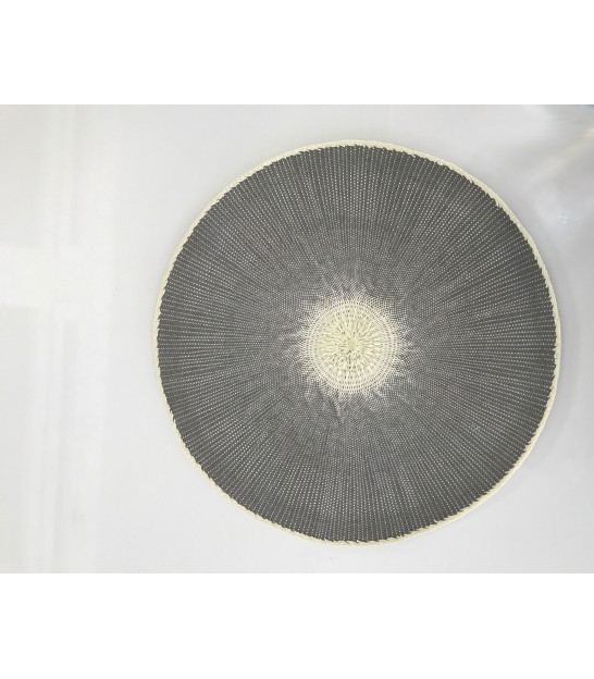 Set de Table Rond en Polypropylène Gris