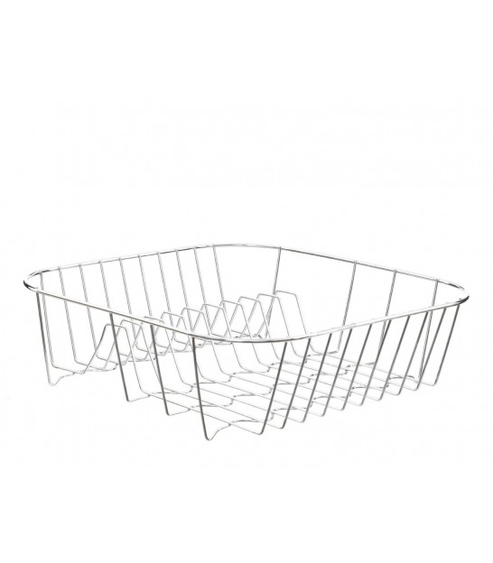 Square Dish Rack Chrome