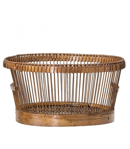 Bread Basket Round Nature Bamboo