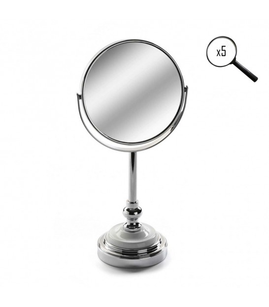 Metal Magnifying Mirror X5 on Stand