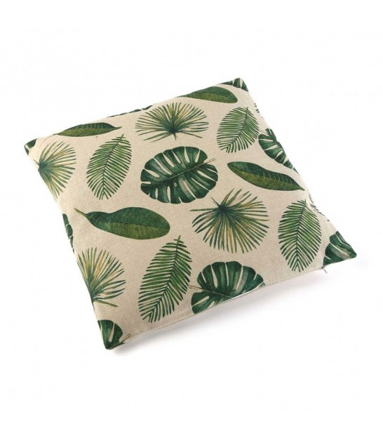 Decorative Cushion Green Leaves Tropic
