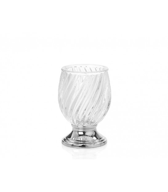 Toothbrush Holder Glass and Metal