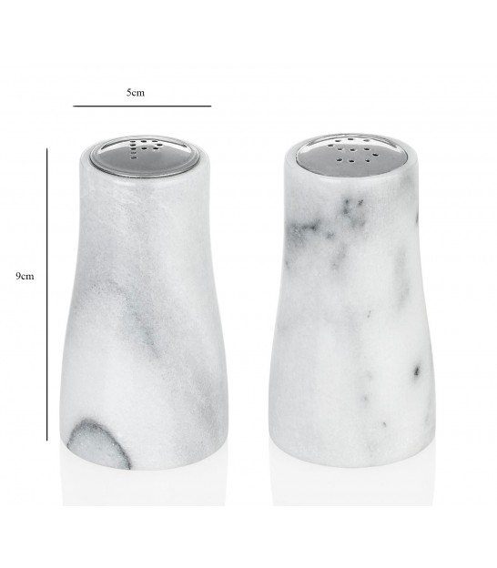Salt and Pepper White Marble