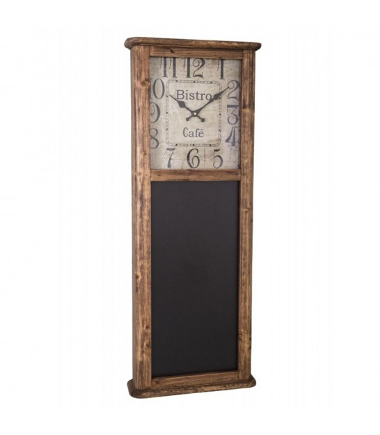 Wall Clock with Blackboard Bistrot
