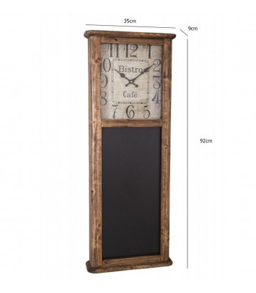 horloge bois bistrot avec tableau noir. Black Bedroom Furniture Sets. Home Design Ideas