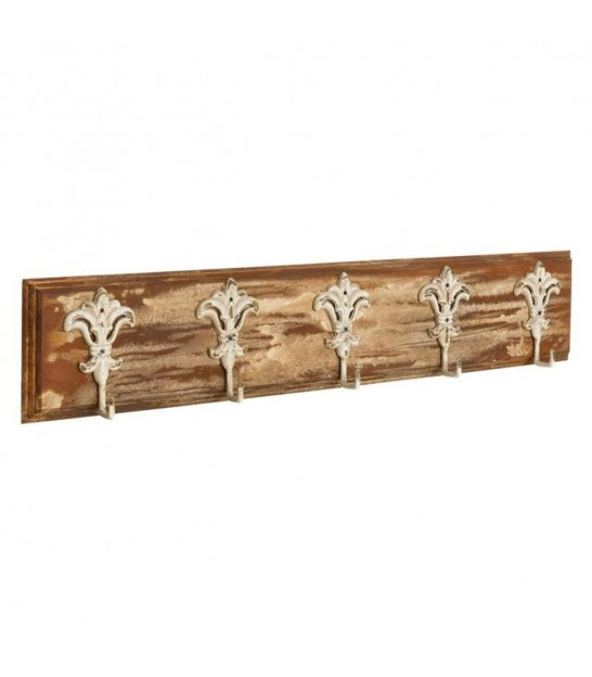 Wall Coat Hanger Wood and Metal - Length 95cm