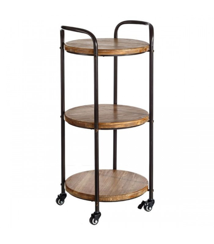 etagere en metal simple console tagre en mtal et sapin cm. Black Bedroom Furniture Sets. Home Design Ideas