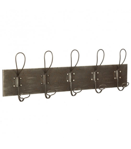 wall coat rack white wood and black metal. Black Bedroom Furniture Sets. Home Design Ideas