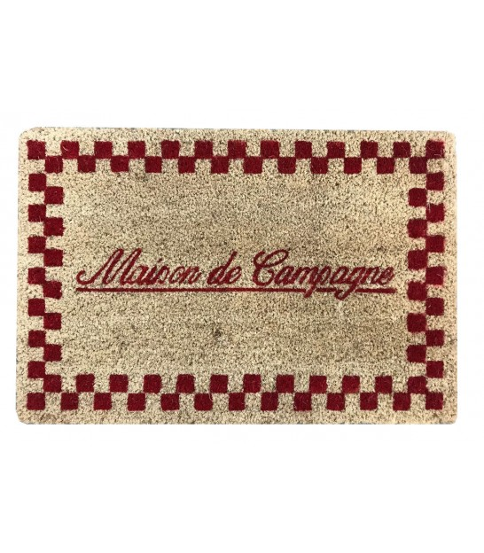 Coco Doormat Red and Beige Maison de Campagne