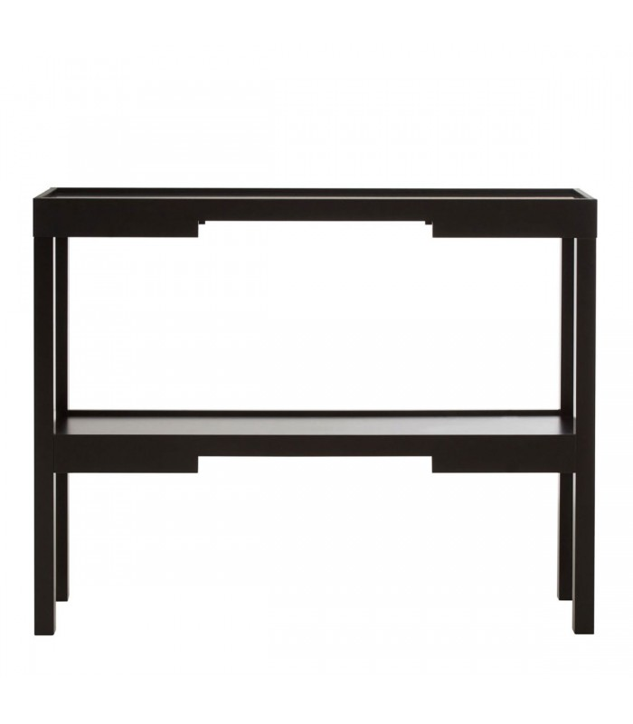 console d 39 entr e en bois noir design tokyo. Black Bedroom Furniture Sets. Home Design Ideas