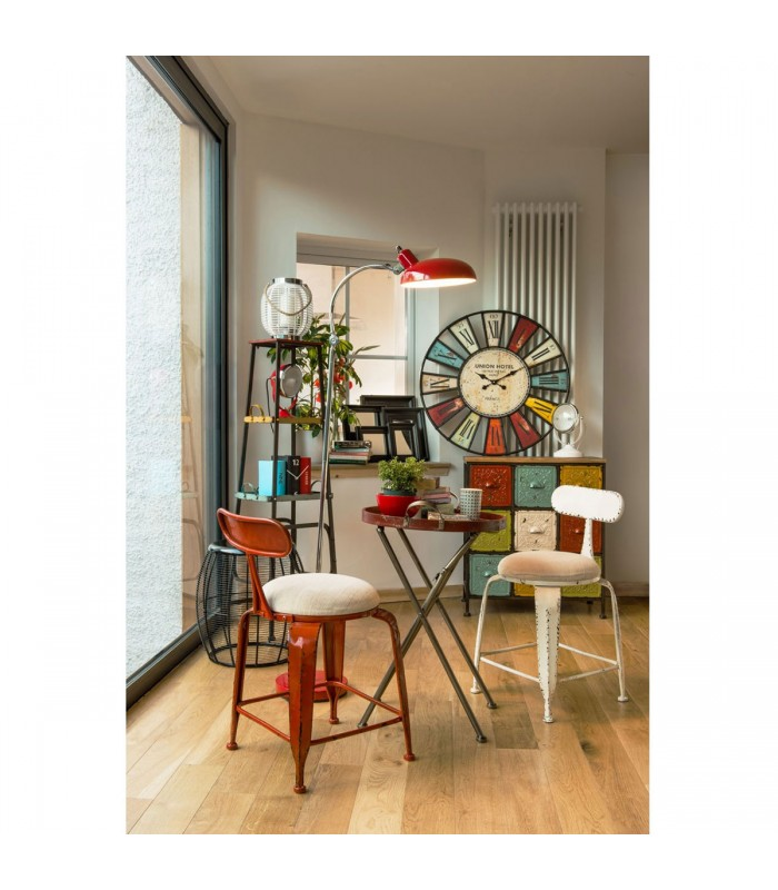 horloge murale originale multicolore bilbao 74cm. Black Bedroom Furniture Sets. Home Design Ideas