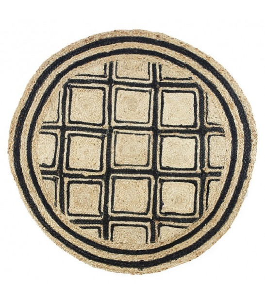 Round Carpet Nature and Black - diameter 120cm